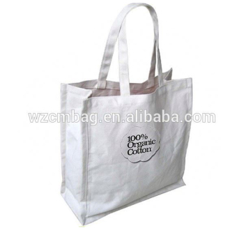 Most popular reusable large capacity shoulder white color cotton bags