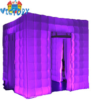 Cheap Led Lighting Wedding White Cube Inflatable Photo Booth For Sale