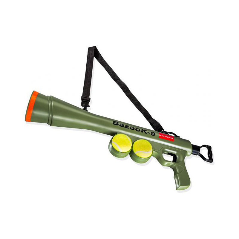 Funny Pet dog tennis ball launcher toy with two ball of factory price