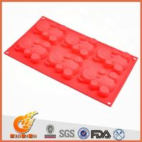 Wustomized as per sending sample strawberry shaped cake decoration(SC12009)