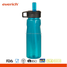 Everich 750ml Plastic Water Bottle With Straw For Drinking