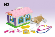 Hualian Pretend Play Vet,Educational Toys,Pet House With Plush Dog & Accessories