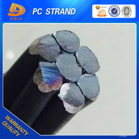 Manufacturer pc stainless steel 9.53mm / 12.7MM steel strand