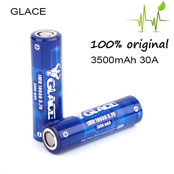 High energy density 3500mAh glace rechargeable 3 7v li-ion battery