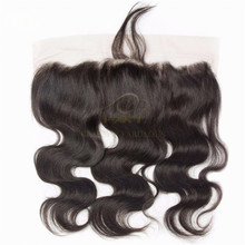 Grade 8A Human Hair Natural color Body Wave 13x4 Lace Frontal Hair Closure Piece