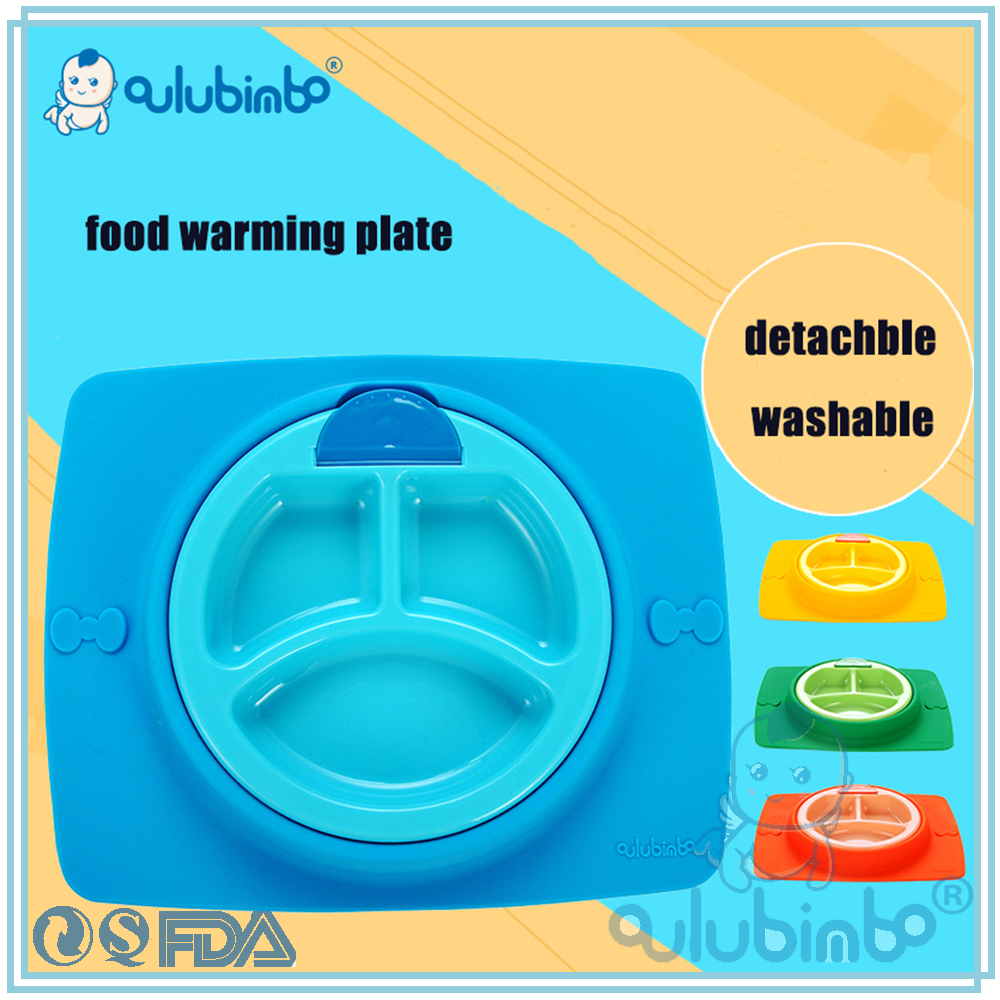 insulation baby bowl food grade silicone baby warming plate