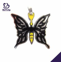 Black butterfly shape wholesale magnetic jewelry necklace