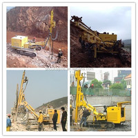 SKM200 hydraulic crawler DTH rock and mine drilling rig