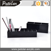 wholesale cheap high quality14 grids black makeup organizer box acrylic lipstick holder