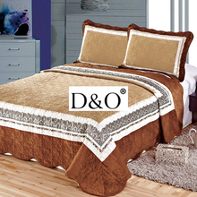 wholesale velvet patchwork bedsheet and pillowcase