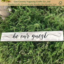 Customized Be Our Guest Cottage Style Wooden Signs