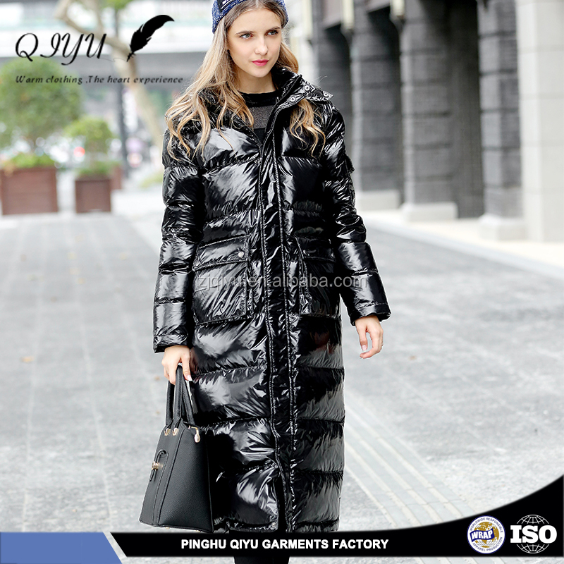 long pattern leather clothing made in italy clothing