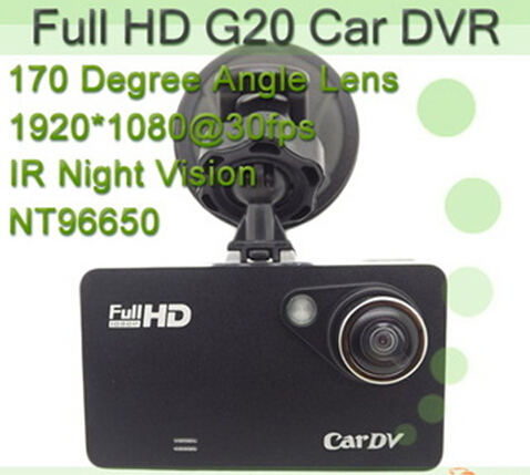 New Arrival NT96650 G20 Car DVR H.264 1080P Full HD Advanced Portable Car Camcorder With Night Vision + G-Sensor