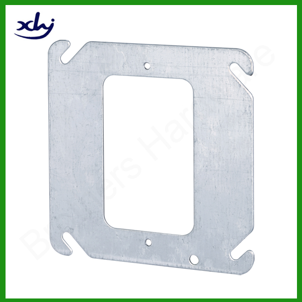 pre-galvanized steel square flat light switch plate cover