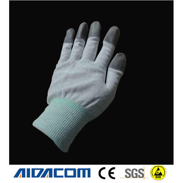 CE Certificate, Logo printed ESD glvoe, Carbon fiber ESD Antistatic gloves