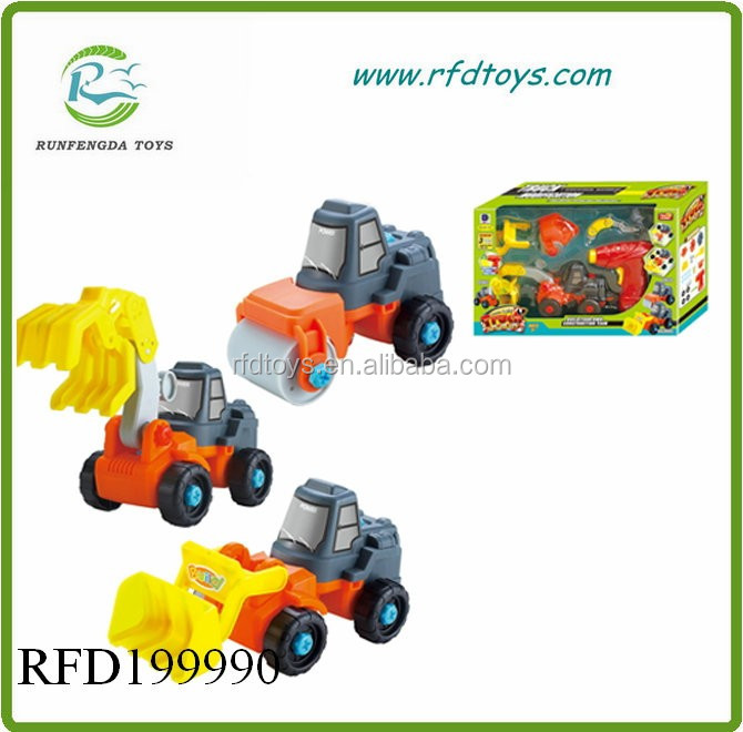 Educational diy friction truck with 4 mini truck friction car