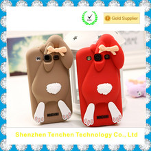 Made in China Silicon 3D cartoon case for Samsung S4