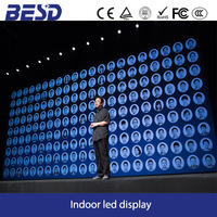 Mobile phone conference stage high definition indoor full color P4 led display