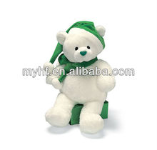 2013 28cm My 1st christmas Teddy with Santa hat plush toy