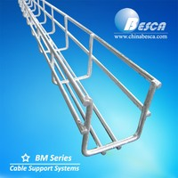BM6 wire mesh cable tray / wire basket cable tray height=100mm