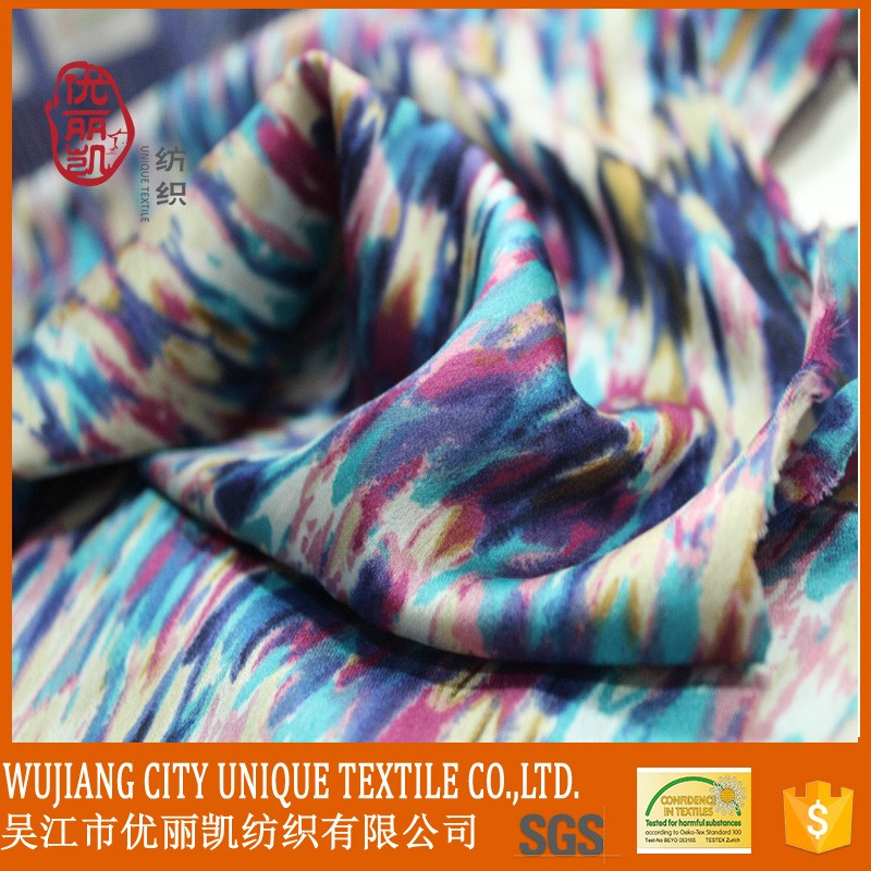 Soft colorful Printed Chiffon Fabric For womens' wear