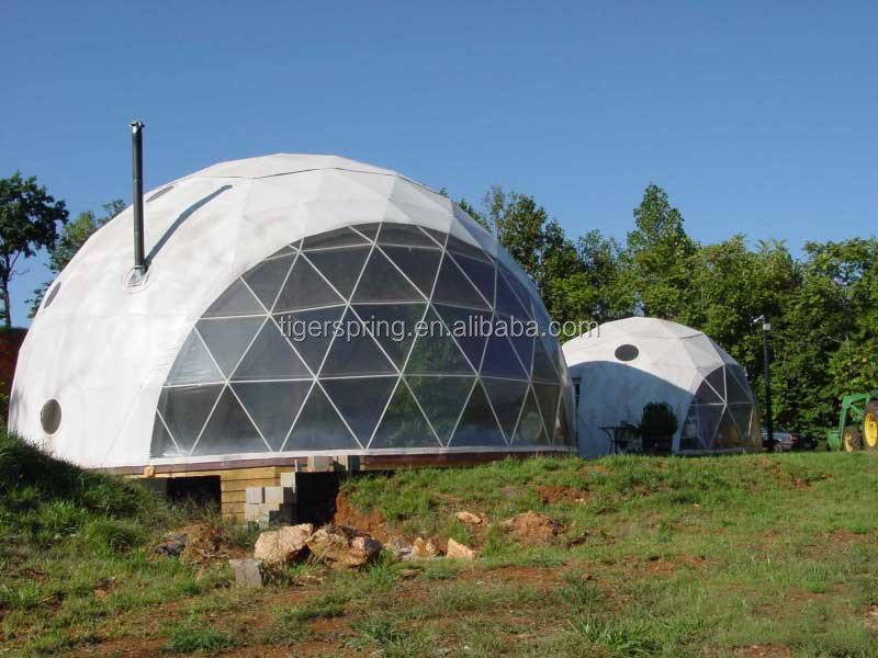 Half dome tent for outdoor event