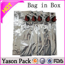 Yason bag in box for juice 5l wine in bib bag in box