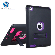Wholesale shockproof protective cover 3 in 1 silicone case for ipad 2 3 4