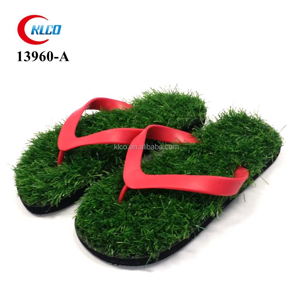 cheap wholesale fancy flip flops grass sandal