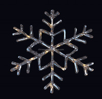 Acrylic window decoration snowflake light