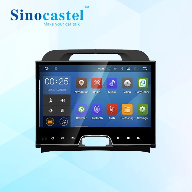 Sinocastel 10 inch android 5.1 car <strong>dvd</strong> gps player for Sportage <strong>R</strong> support steering wheel control