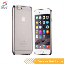 0.5mm ultra thin tpu transparent bulk cheap mobile phone case for iphone 6