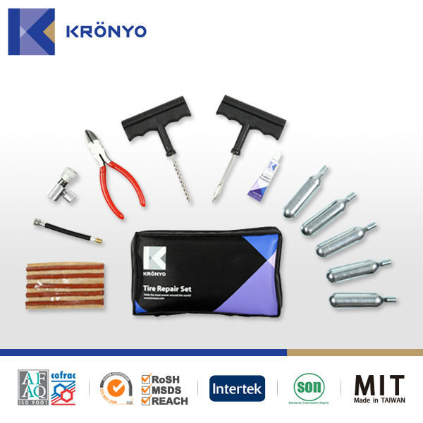 KRONYO made in Taiwan tire repair kit co2 cylinder motorcycle tire