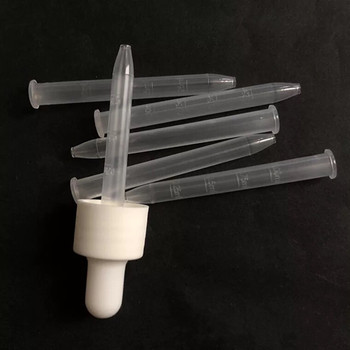 1ml 65mm plastic Graduated spuit for 15ml essential oil glass Bottle Pipette Dropper