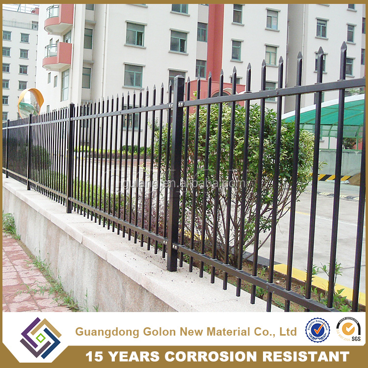 Wrought metal fence,garden aluminum fence,wrought iron fence panels