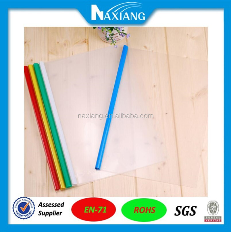 A4 A3 clear plastic document folder with slide bar