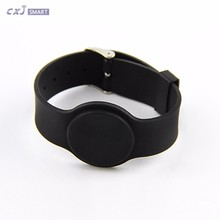 NDEF NFC type ntag213 nfc silicone wristbands