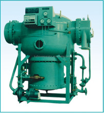 Fresh water generator on marine vessel for sea water treatment with pipe and plate type