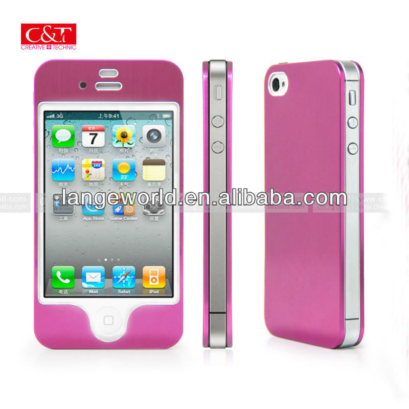"2013 new style aluminum mobile phone shell case for iphone 4s"" accessories"
