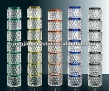 Round Golf Shape Decorative Crystal Glass Columns