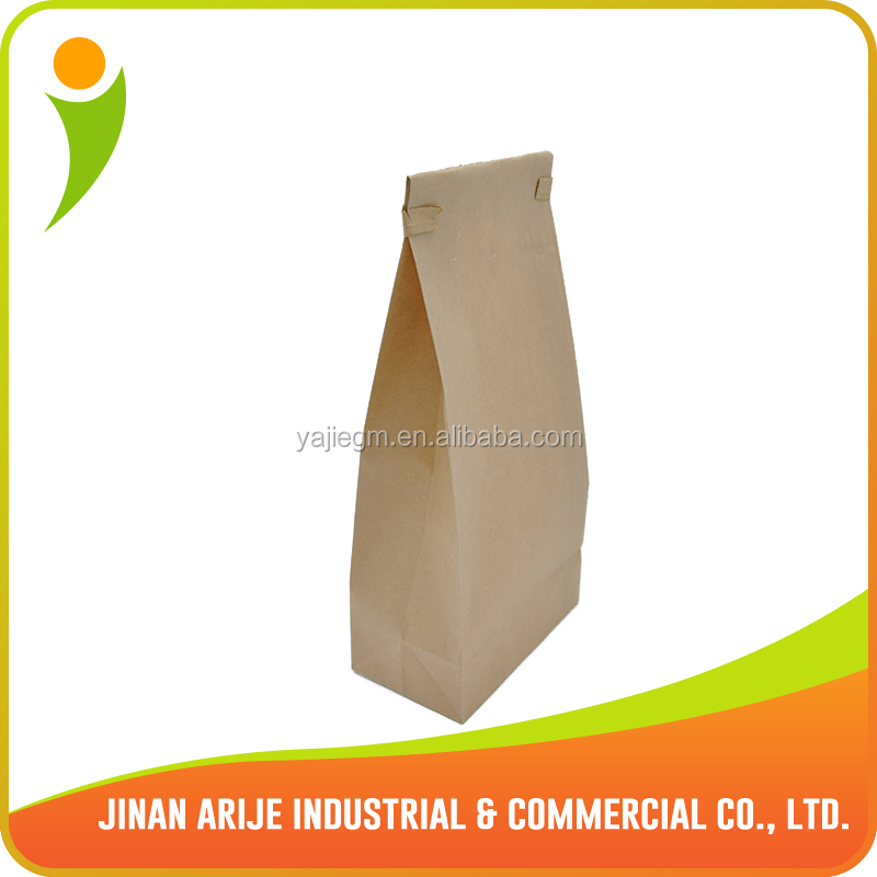 High quality SOS brown kraft paper bag with long tin tie