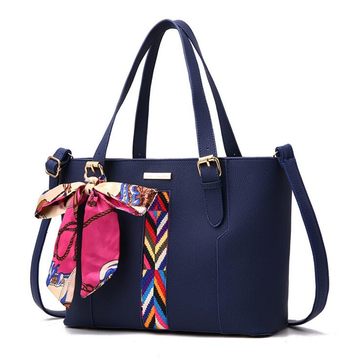 Popular style Elegant women handbag bag with scarf