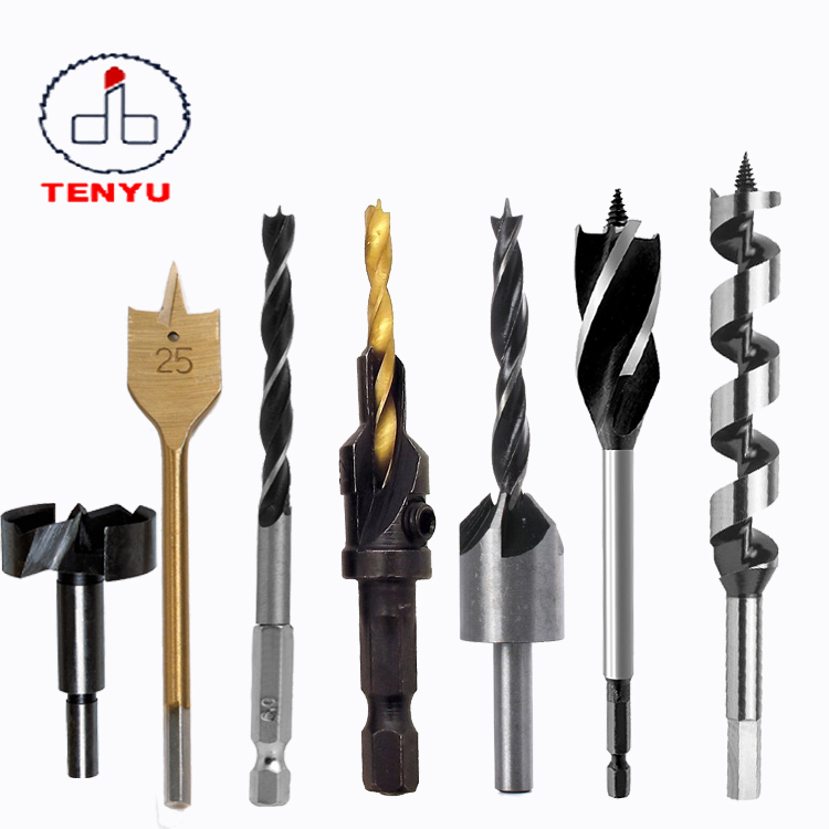 Hex Straight Shank Woodworking Tool Forstner Bit Set Wood Flat Spare Core Drill Bit Wood Auger Drill Bit