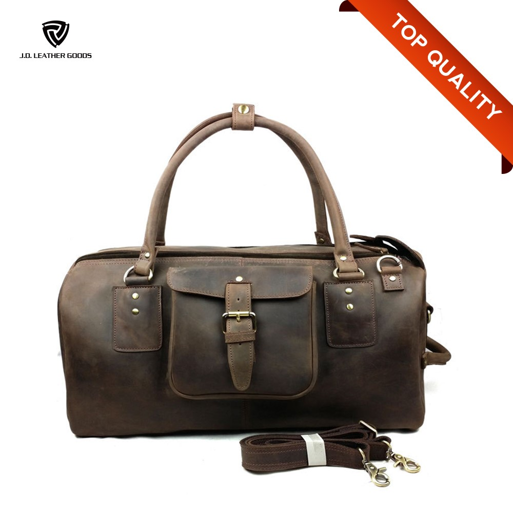 Custom Travel Bag/Low Price Simple Travel Luggage Bag Mens/Leather Bag Travel