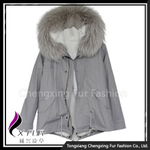 CX-G-P-16A Fur Rabbit Fur Lining Parka Women Custom Winter Fur Jacket