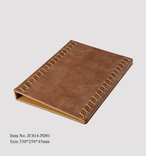 Custom high quality restaurant popular leather menu covers