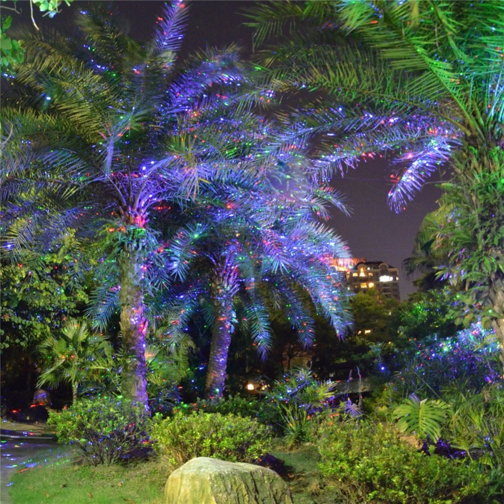 Red, Green & Blue landscape laser projector light with Remote Control