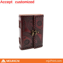 2014 Top quality factory price custom loose leaf leather notebook