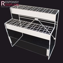 Double-tiers metal kitchenware pot pan display stand