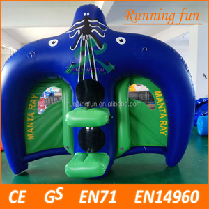 Inflatable Manta Ray Flying Towable Watercraft, Inflatable Flying Fish Water Game Toys